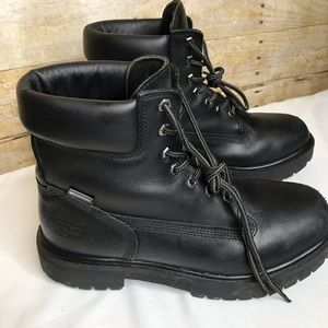 Timberland Pro Black Leather Work Boots Size 9.5